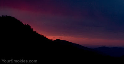 Sunset at Newfound Gap Road last night