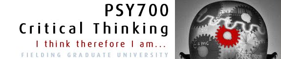 PSY700 - Critical Thinking