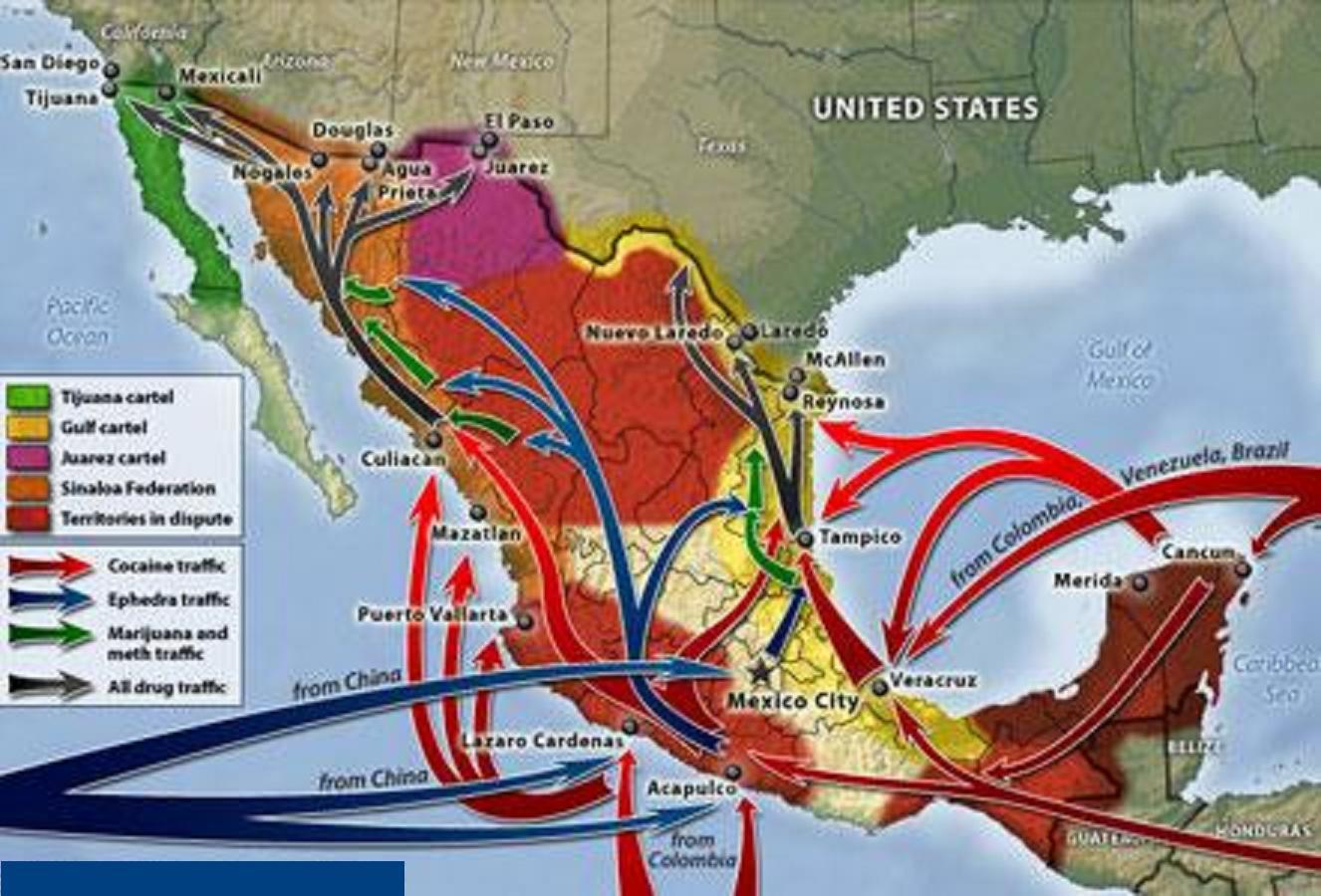 LA LINEA Z BELTRAL LEYVA AZTECAS VALENCIA CONTRA EL CHAPO Mapa+del+narcotrafico+en+mexico