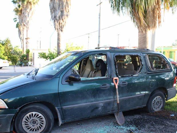 de Nuevo Laredo, sin causar víctimas pero sí daños a dos vehículos,