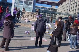 INSTALACIÓN FEMINISTA AUTÓNOMA POR ANA, EN CENTRO DE JUSTICIA