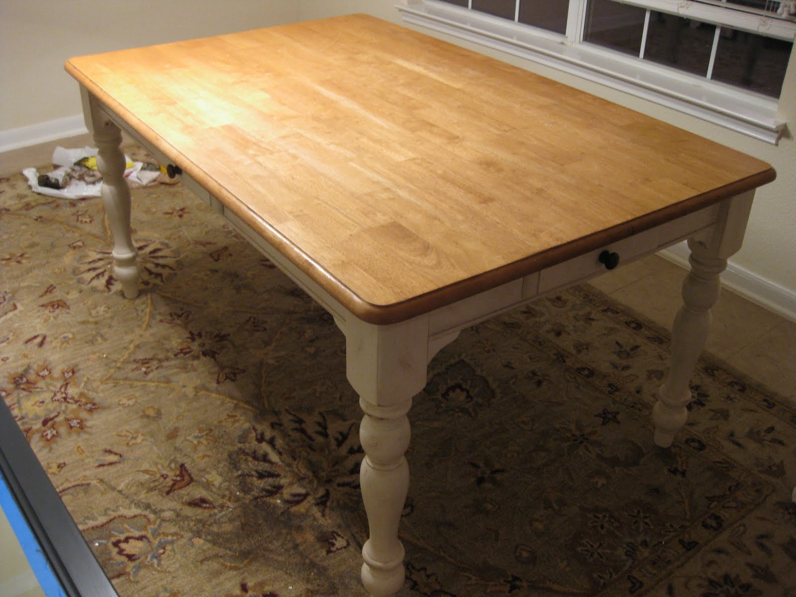 Attractive New (Old) Kitchen Table: Staining
