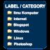 Memberi Icon Label / Category pada Widget Blog