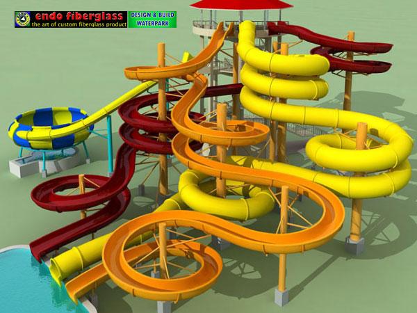 Jasa Pembuatan Design Water boom, design waterpark