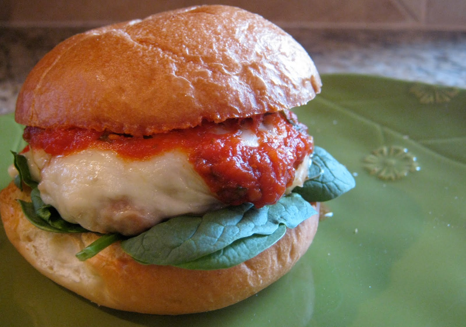chicken parmesan burgers | greens & chocolate
