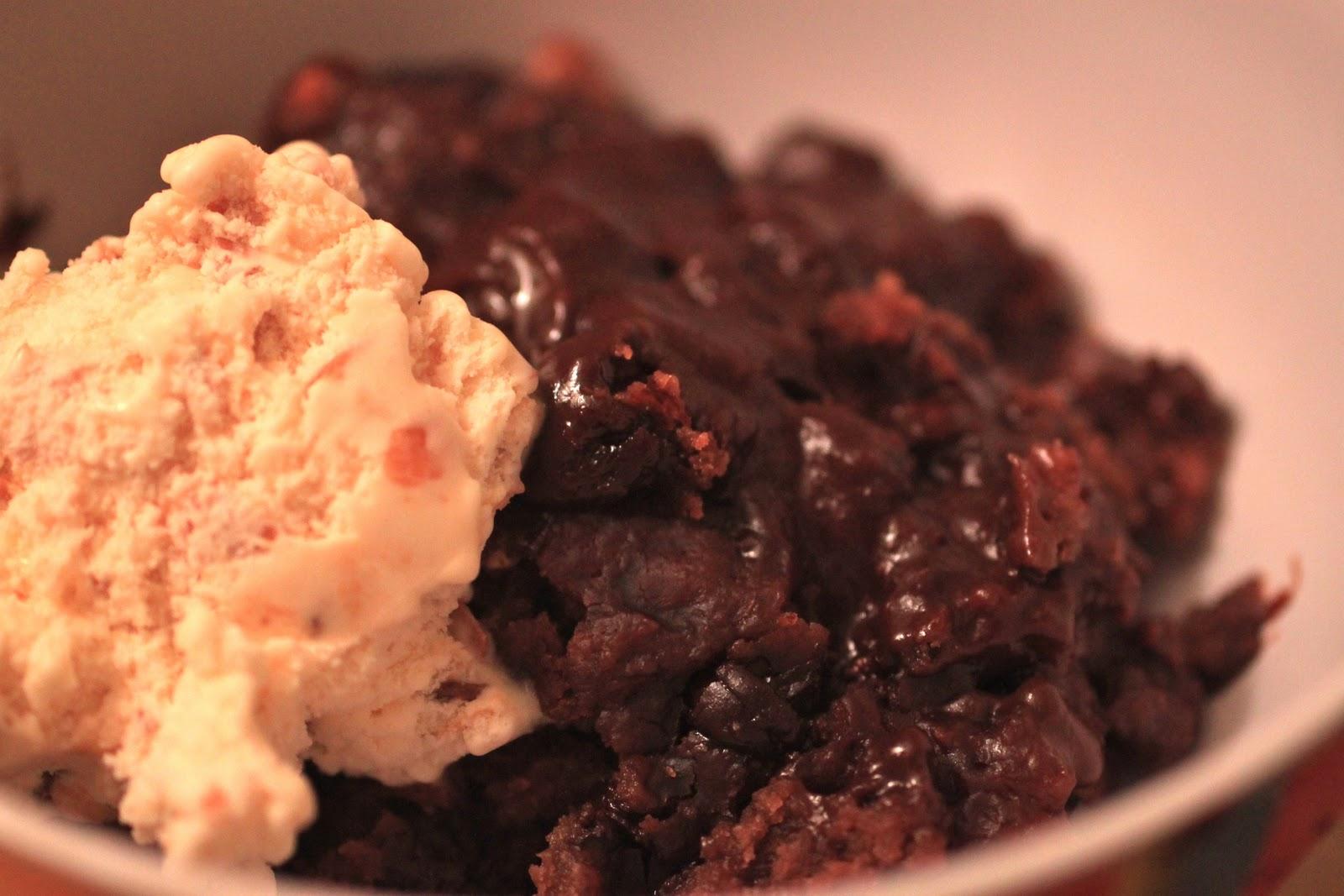 Crock Pot Week Hot Fudge Peanut Butter Pudding Cake Greens