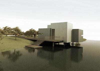 Casa inspiracion el estudio creativo yonoh gana el primer - Porche entrada vivienda ...
