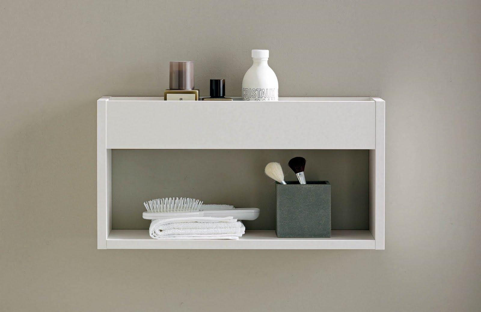 Muebles De Baño Duravit:White Bathroom Wall Shelf