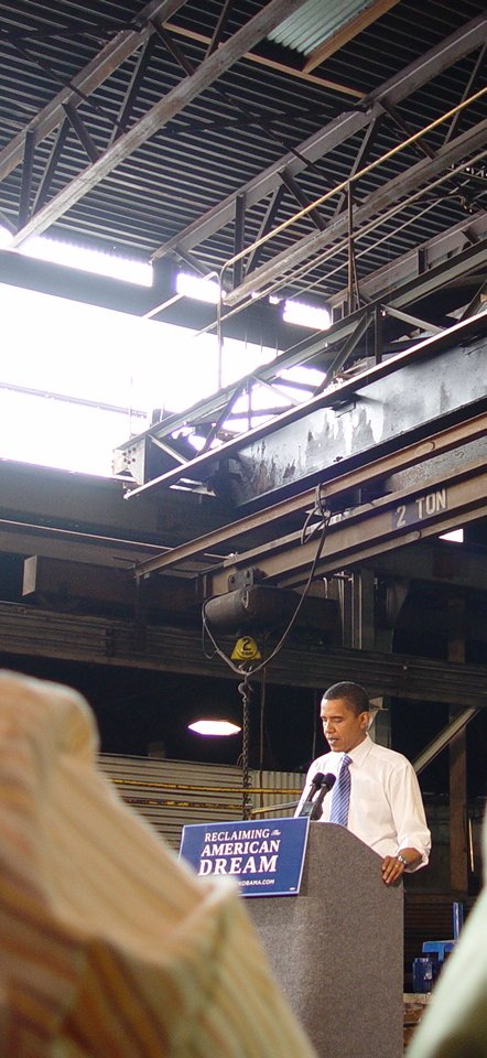 Barack Obama at Munster Steel, IN 5-2-2008