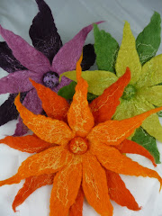 Felt and Silk Flower Corsages