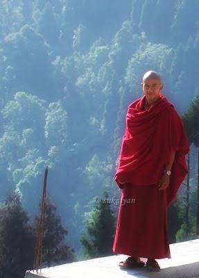 Enlightment - Buddhist Monk at Lava, West Bengal - Travel photography by Sukalyan Chakraborty