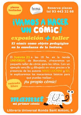 Bang Comics - Universal - Taller de comics