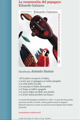 Historia de la resurrección del papagayo, de Eduardo Galeano y Antonio Santos