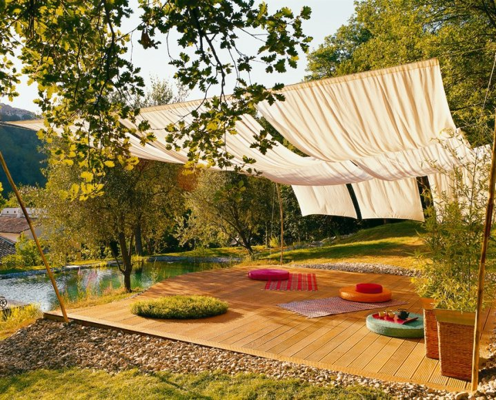 Bb id es de d co terrasse for Decoration jardin terrasse