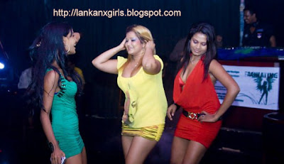 night club girls at DJ night