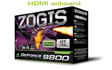 ZOGIS PLACA DE VIDEO GEFORCE 9800 GT GDDR3 HDMI