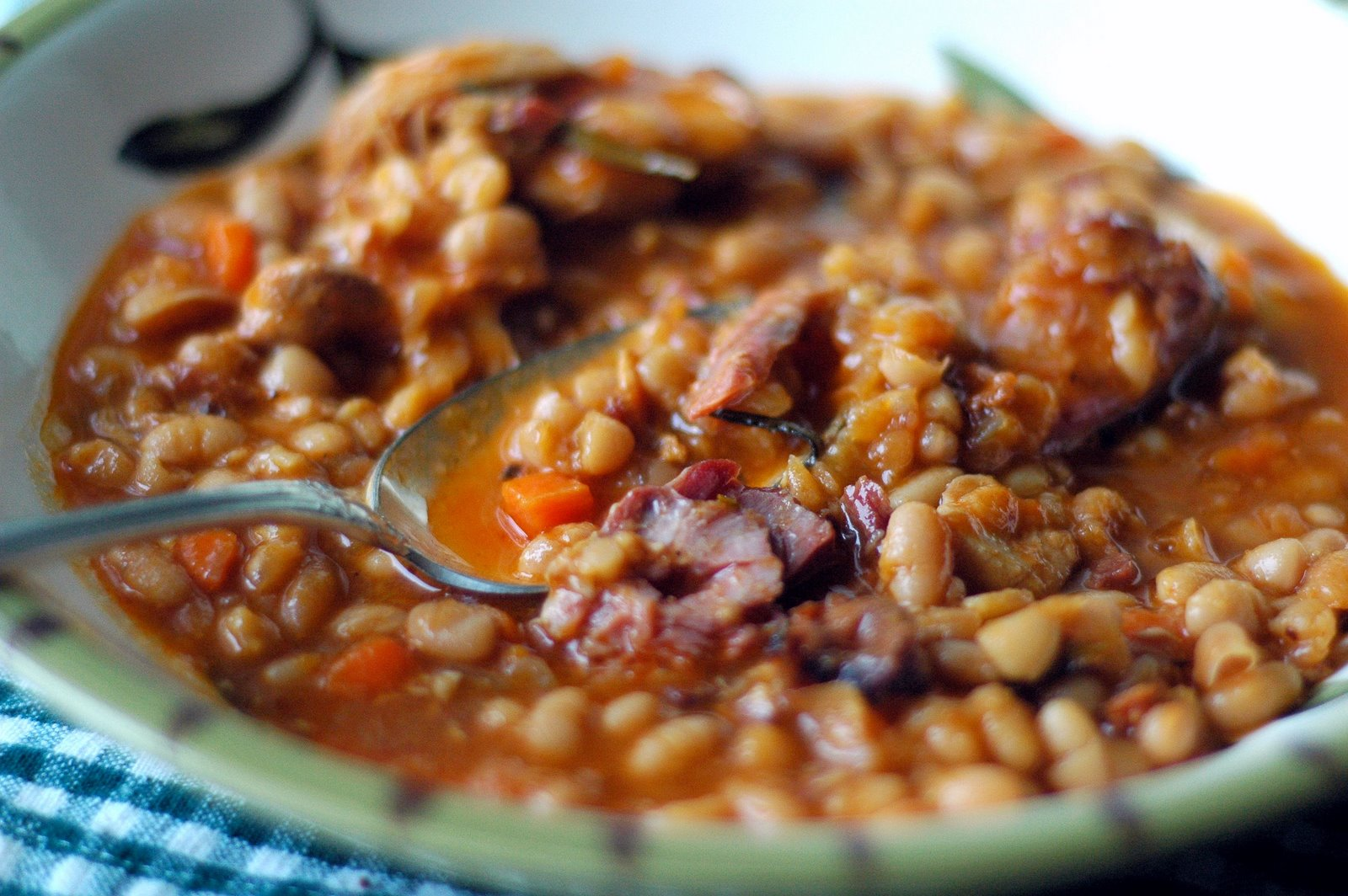 lentil and garlic sausage cassoulet chorizo and gigante bean cassoulet ...