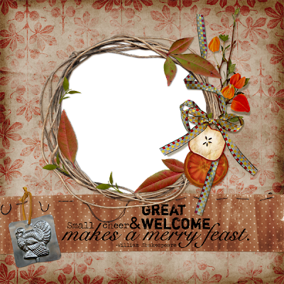 Thanksgiving quickpage freebie  by Donna Rafferty Donna+Rafferty+%7E+Thankful+Heart+Quickpage+preview