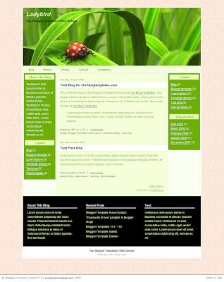 blog templates: Ladybird