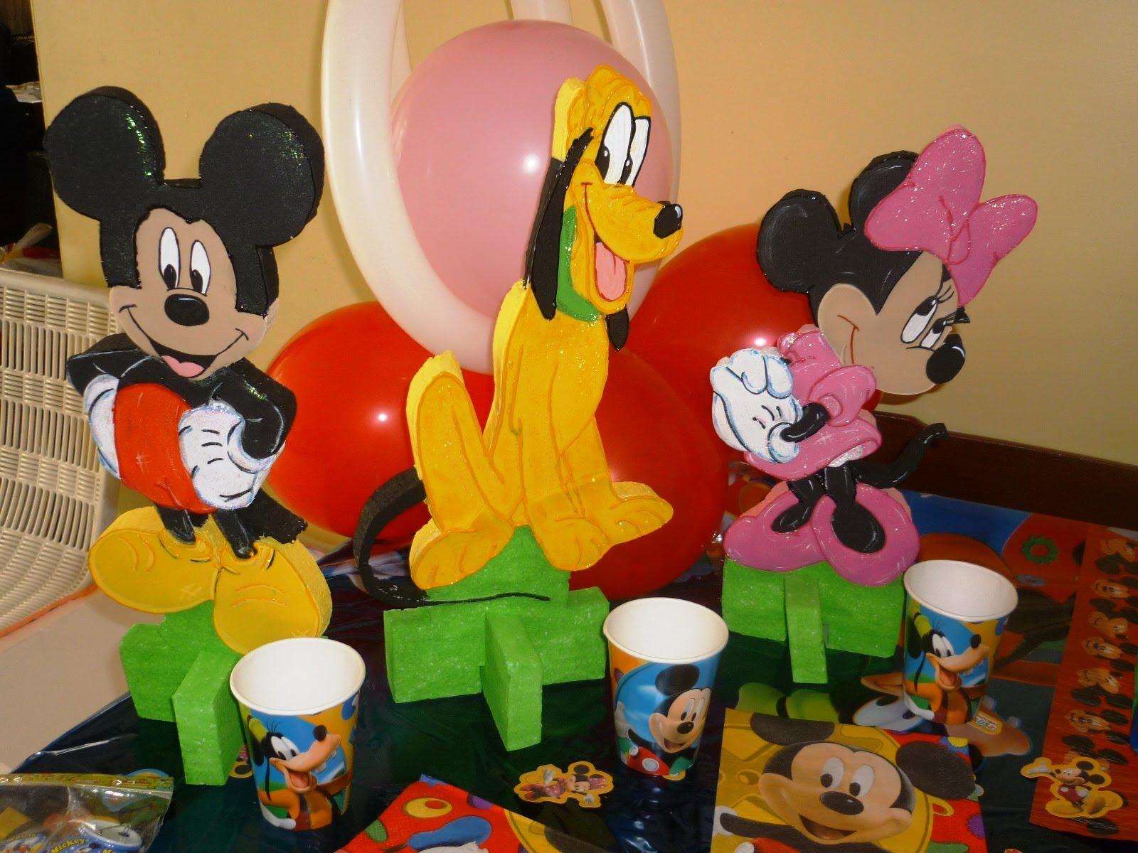 Decoraciones De Mesa De Mickey Mouse