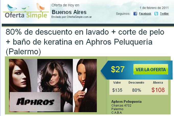 Ofertas y descuentos en argentina oferta en corte de pelo - Bano de keratina ...