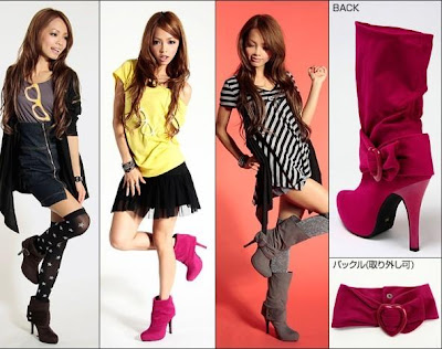 Fashion Images Boots  Dresses on Purple Lady S Collections  Long Short Fashion Heel Boots