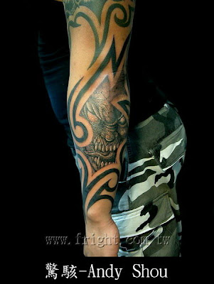 tribal skull tattoos. Tribal skull tattoo design