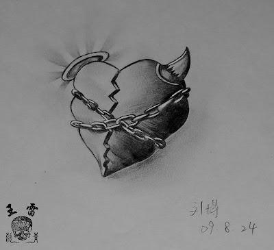 Heart tattoo flash. heart tattoo flash