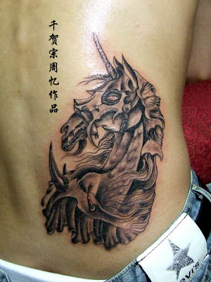 Another horse tattoo design. This tattoo is supposed to be the ride of the
