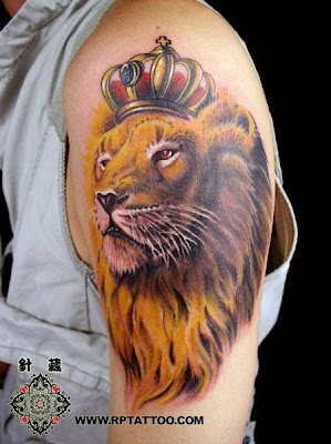 Lion king tattoo on the arm