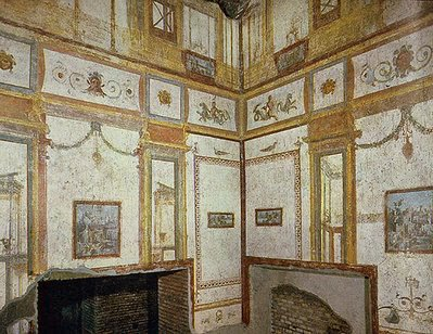 Classical mural interior design roman fresco domus aurea for Ancient roman interior decoration