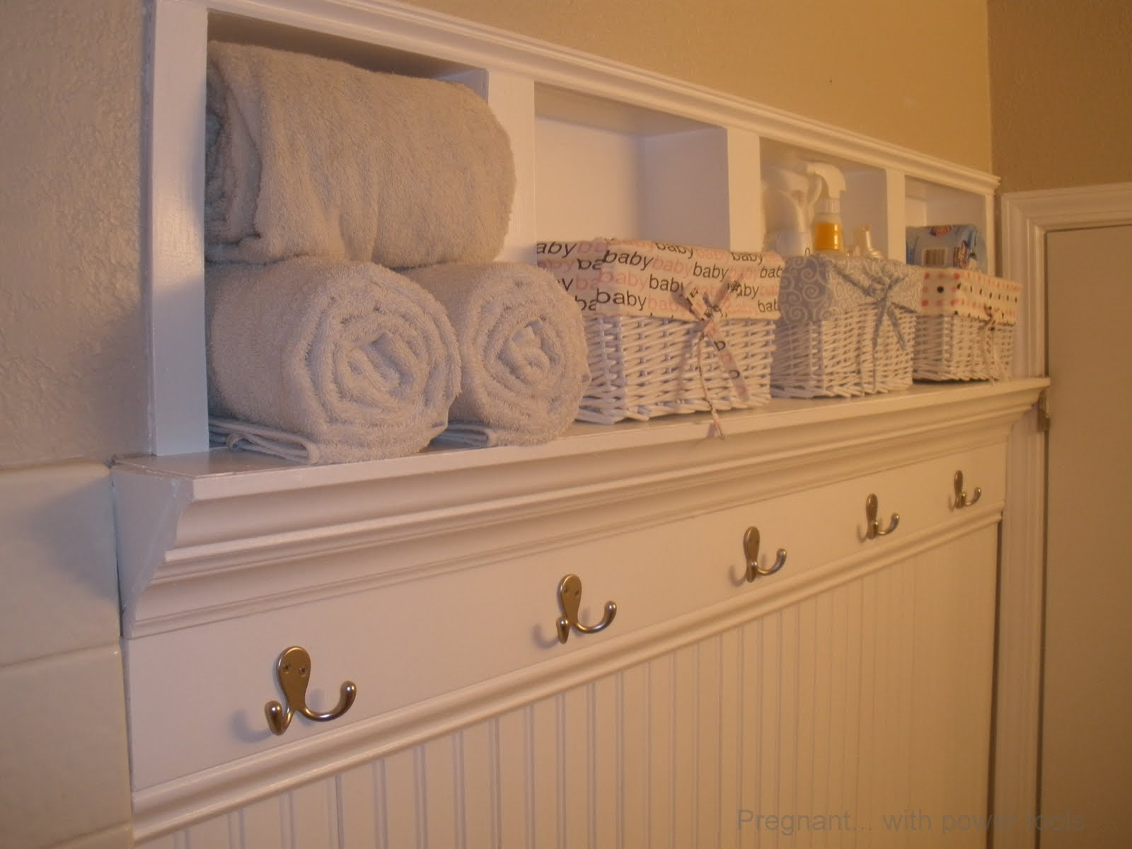 Built in bathroom wall storage - Creating Beautiful Storage Space Within Bathroom Walls