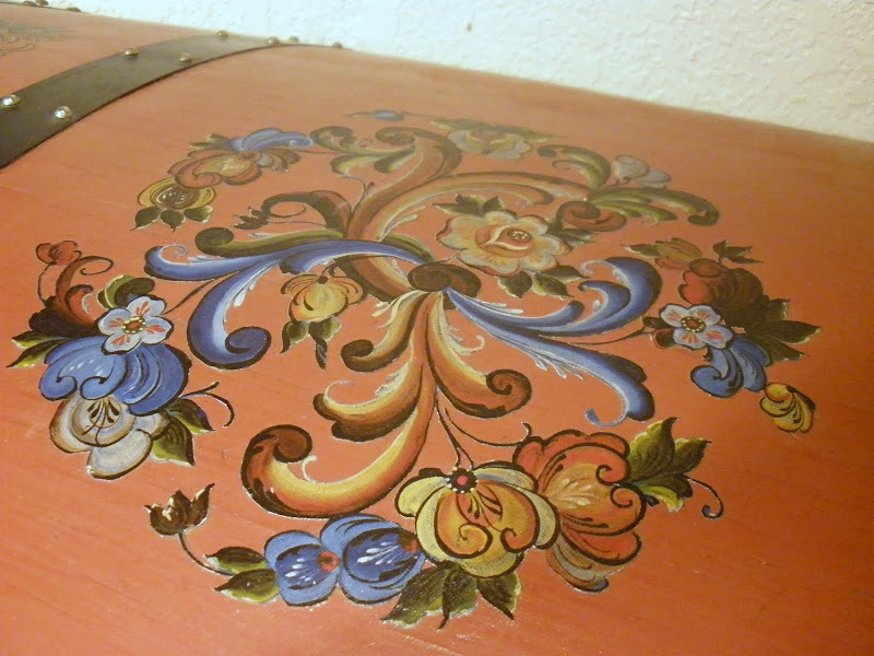 Tole Painted Hope Chest