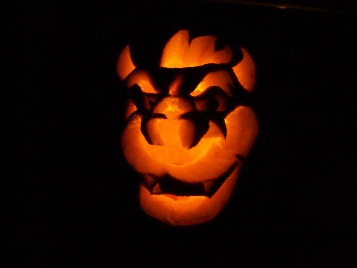 Bowser Pumpkin Stencil Pumpkin carving 2010Bowser Pumpkin Carving Patterns