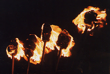 Bonfire Night Torches in Lewes, East Sussex, UK