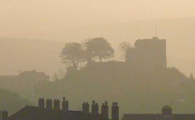 Lewes Castle in early morning light, image by Oliver Gozzard