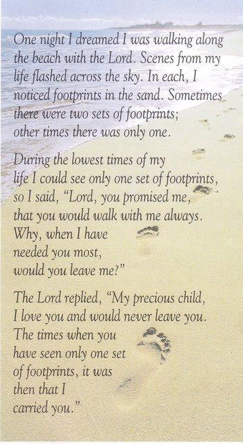 footprints poem. Footprints in the Sand