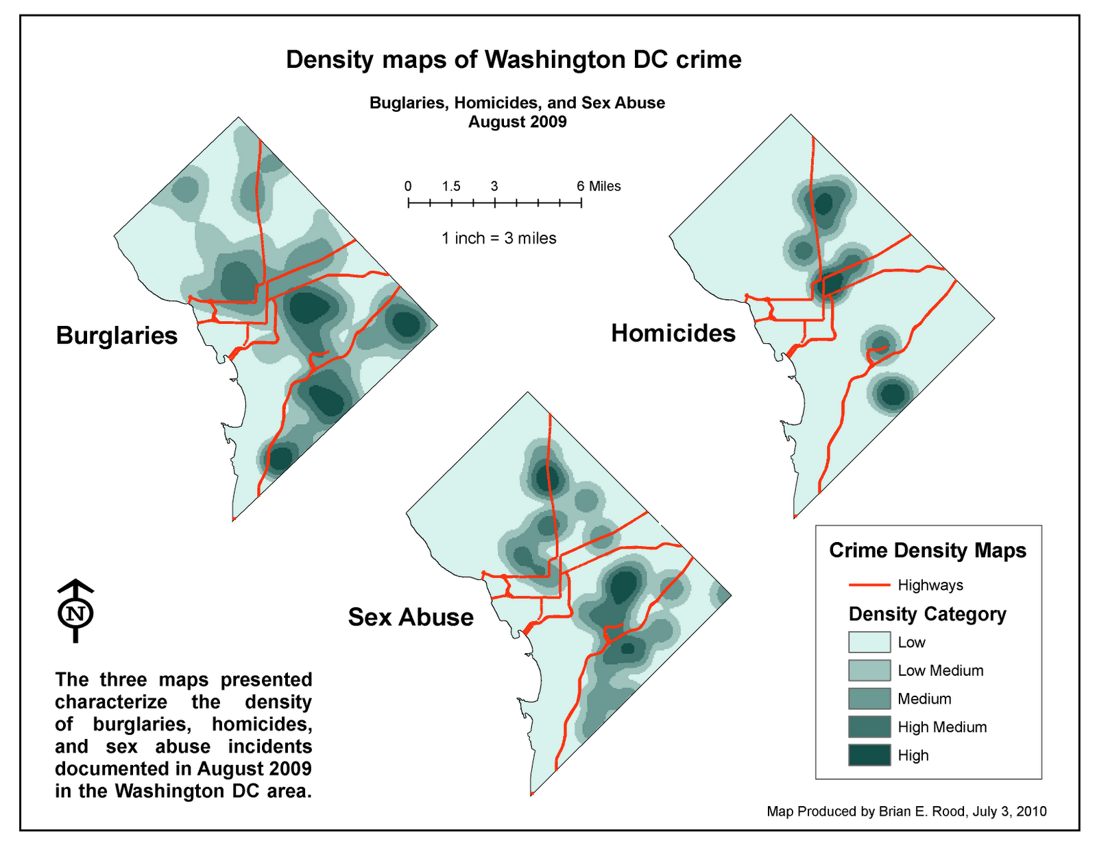 Applications In GIS Rood Week  Analyzing Crime In Washington - Washington dc gis map