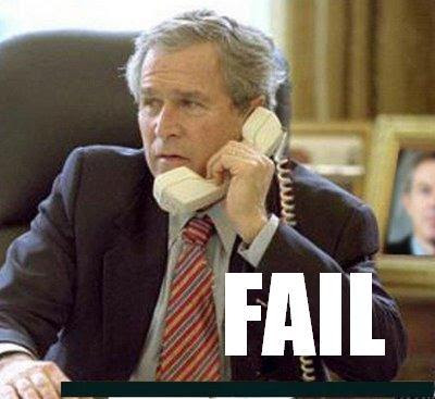 George Bush fail