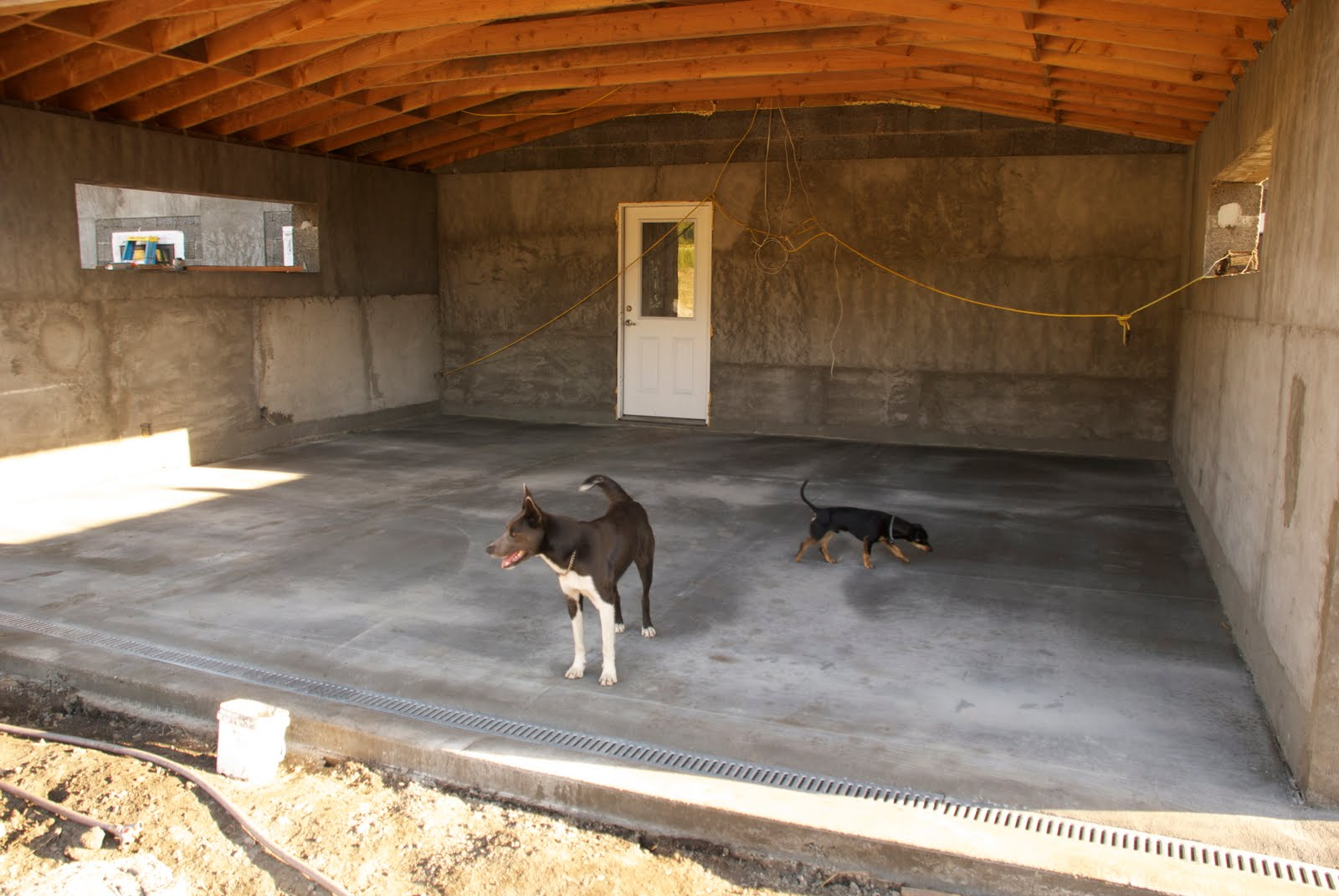 California Homesteading Garage Slab And Other Concrete