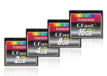 Transcend 500 Series CFast Memory Cards