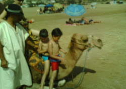 Summer Holidays 2009-Kamal & Nassim on a Camel