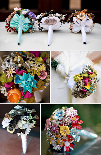 Keeping the I in Bride ConsciousKitschy Bridal Style My brooch bouquet