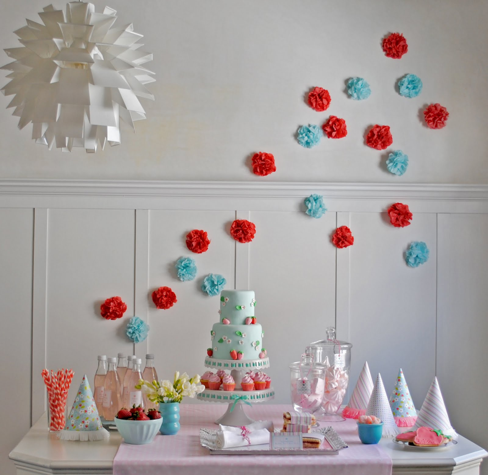 Kara's Party Ideas Strawberry Soiree Birthday Party | Kara ...