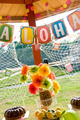 Hawaiian Farewell Luau via Kara's Party Ideas | karaspartyideas.com