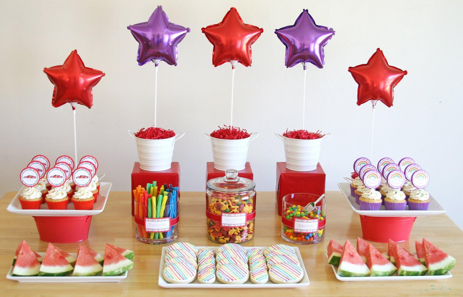 Kara s party ideas rainbows and race cars birthday party kara s