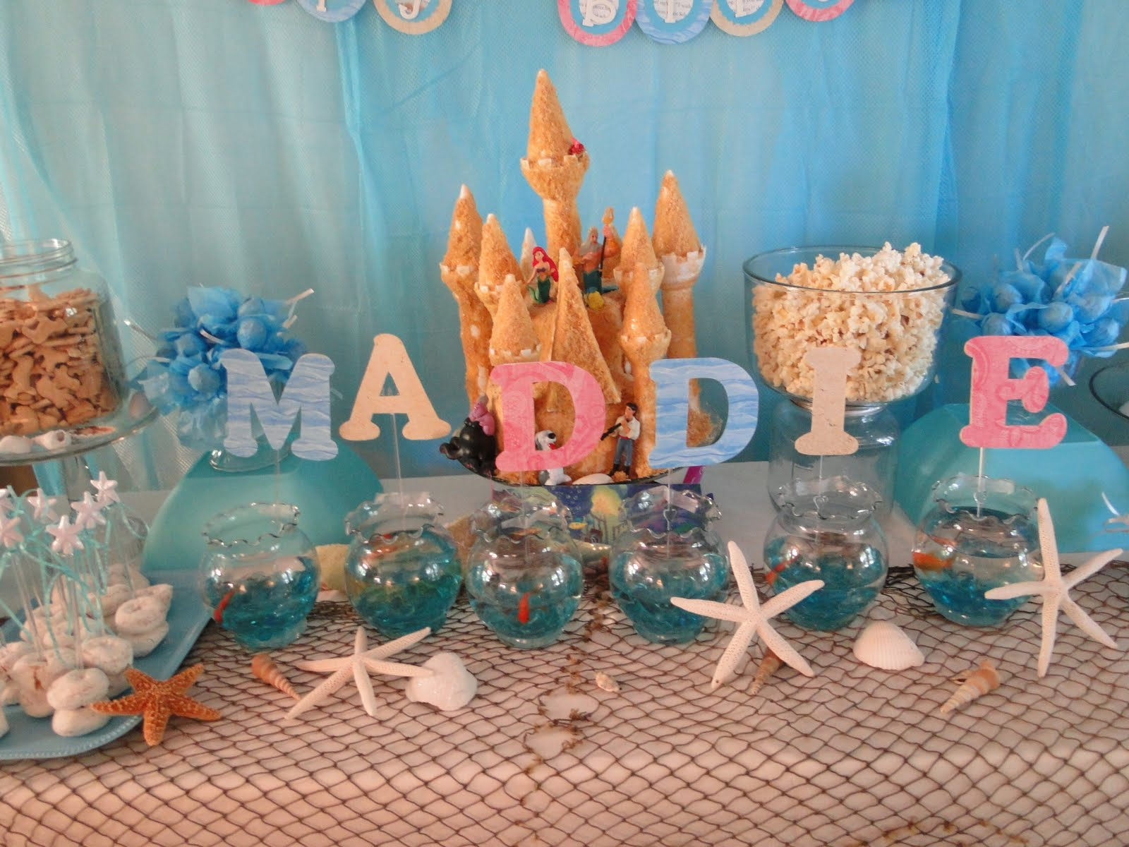 Kara 39 s party ideas little mermaid under the sea birthday for Ariel decoration party
