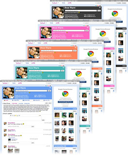 Interface do Novo orkut
