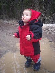 johanna loves mud puddles!