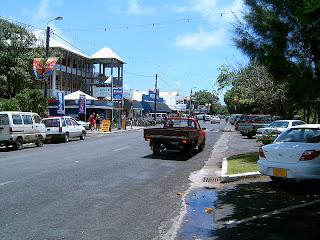 Main street in capital